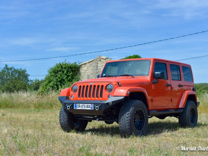 Jeep JK Orange Mécanique by Bumper Offroad