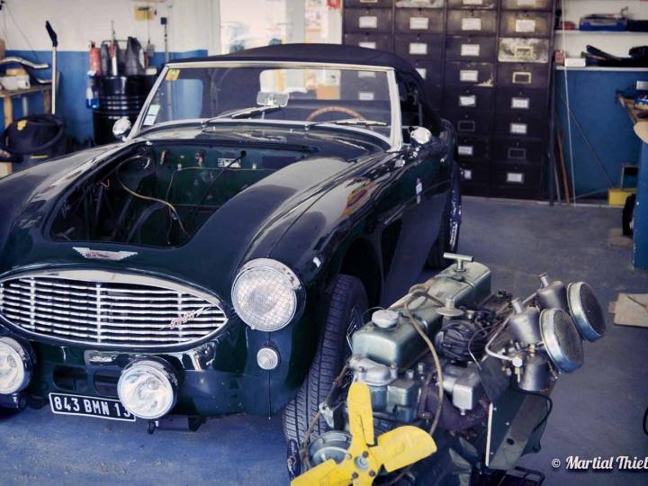 Austin-Healey 3000 chez Authentic Garage à Saint Cannat (13)